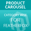 Products carousel by Category